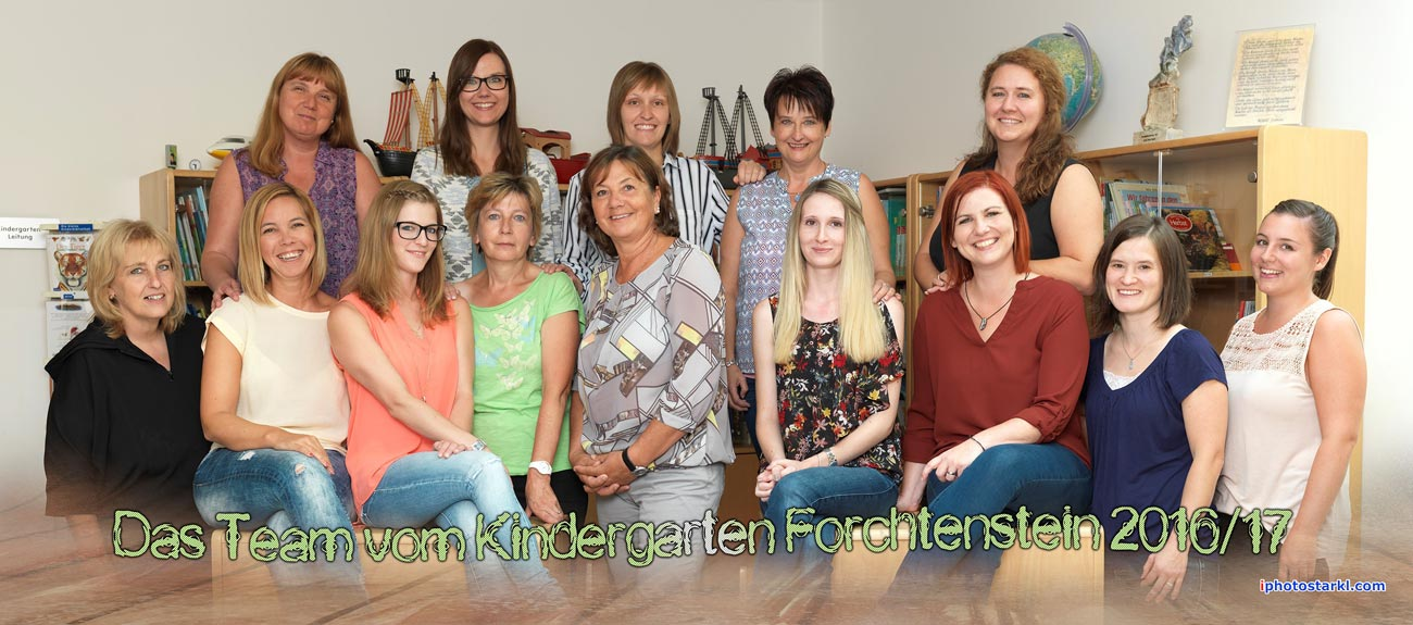 Kindergarten Forchtenstein Gruppenfoto Sommer 2016