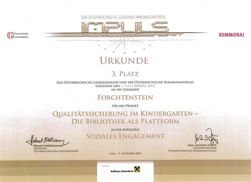 kindergarten-forchtenstein-auszeichnung-impuls-2013