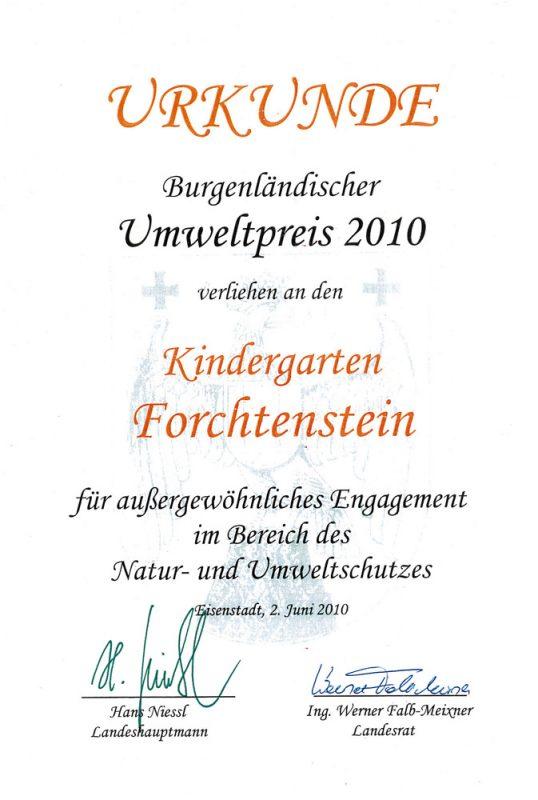 kindergarten-forchtenstein-auszeichnung-umweltpreis-2010