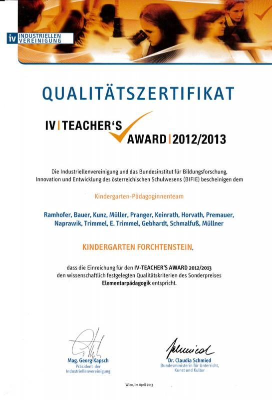 kindergarten-forchtenstein-auszeichnung-award-2012-2013