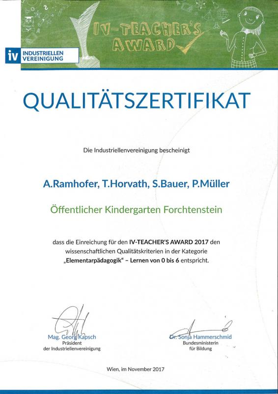 IV Teachers-Award 2017
